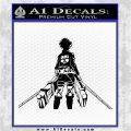 Attack On Titan Eren Jaeger DR Decal Sticker Black Logo Emblem 120x120