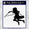 Attack On Titan Mikasa Ackerman Decal Sticker Black Logo Emblem 120x120