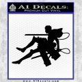 Attack on Titan Jean Kirstein Silhouette Decal Sticker Black Logo Emblem 120x120