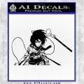 Attack on Titan Mikasa Ackerman D2 Decal Sticker Black Logo Emblem 120x120