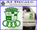 Audi Infinity Lexus Mercedes Cadillac BMW Decal Sticker Mashup Green Vinyl 120x97