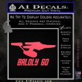 Baldly Go USS Enterprise Decal Sticker Pink Vinyl Emblem 120x120