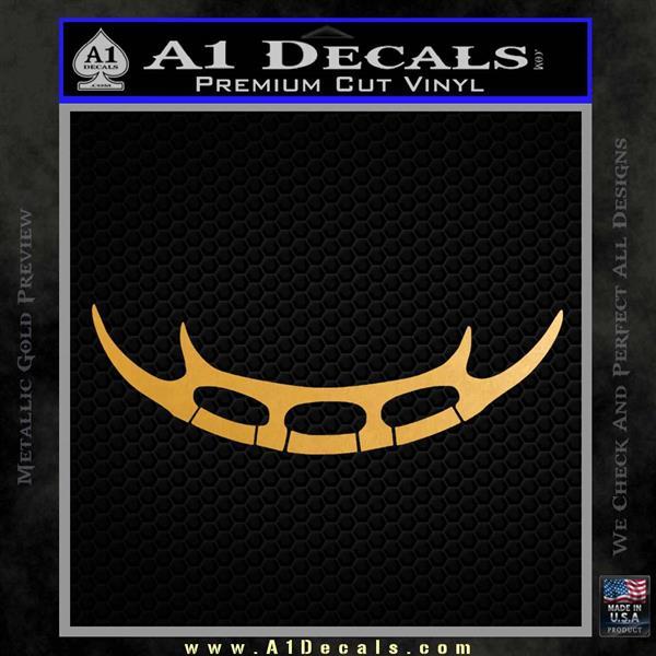 Batleth Klingon Sword of Honor Decal Sticker Star Trek Metallic Gold Vinyl