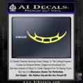 Batleth Klingon Sword of Honor Decal Sticker Star Trek Yelllow Vinyl 120x120