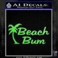 Beach Bun Palm Tree Decal Sticker Lime Green Vinyl 120x120