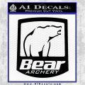 Bear Archery Logo Decal Sticker Badge Black Logo Emblem 120x120