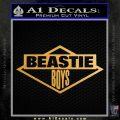 Beastie Boys D2 Decal Sticker Metallic Gold Vinyl Vinyl 120x120