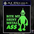 Bender Bite My Metal Ass Decal Sticker DZA Lime Green Vinyl 120x120