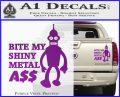 Bender Bite My Metal Ass Decal Sticker DZA Purple Vinyl 120x97