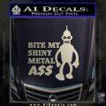 Bender Bite My Metal Ass Decal Sticker DZA Silver Vinyl 120x120