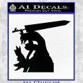 Bersek Guts Wolf Armor Decal Sticker Black Logo Emblem 120x120