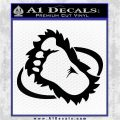 Bigfoot OV1 Decal Sticker Black Logo Emblem 120x120