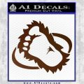 Bigfoot OV1 Decal Sticker Brown Vinyl 120x120