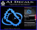 Bigfoot OV1 Decal Sticker Light Blue Vinyl 120x97