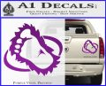 Bigfoot OV1 Decal Sticker Purple Vinyl 120x97