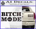 Bitch Mode 24 Hours Decal Sticker Carbon Fiber Black 120x97