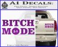 Bitch Mode 24 Hours Decal Sticker Purple Vinyl 120x97