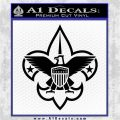 Boy Scouts Logo Decal Sticker Black Logo Emblem 120x120