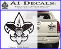 Boy Scouts Logo Decal Sticker Carbon Fiber Black 120x97