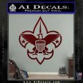 Boy Scouts Logo Decal Sticker Dark Red Vinyl 120x120