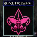 Boy Scouts Logo Decal Sticker Hot Pink Vinyl 120x120