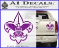Boy Scouts Logo Decal Sticker Purple Vinyl 120x97