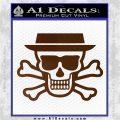 Breaking Bad Heisenberg Walter White Skull Decal Sticker Brown Vinyl 120x120