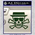 Breaking Bad Heisenberg Walter White Skull Decal Sticker Dark Green Vinyl 120x120