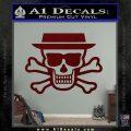 Breaking Bad Heisenberg Walter White Skull Decal Sticker Dark Red Vinyl 120x120