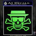 Breaking Bad Heisenberg Walter White Skull Decal Sticker Lime Green Vinyl 120x120