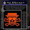 Breaking Bad Heisenberg Walter White Skull Decal Sticker Orange Vinyl Emblem 120x120