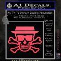Breaking Bad Heisenberg Walter White Skull Decal Sticker Pink Vinyl Emblem 120x120