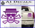 Breaking Bad Heisenberg Walter White Skull Decal Sticker Purple Vinyl 120x97