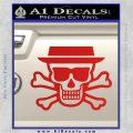 Breaking Bad Heisenberg Walter White Skull Decal Sticker Red Vinyl 120x120