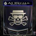 Breaking Bad Heisenberg Walter White Skull Decal Sticker Silver Vinyl 120x120