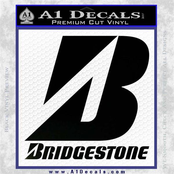 Bridgestone Tires Logo Decal Sticker Stacked Black Logo Emblem