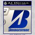 Bridgestone Tires Logo Decal Sticker Stacked Blue Vinyl 120x120