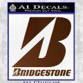 Bridgestone Tires Logo Decal Sticker Stacked Brown Vinyl 120x120