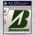 Bridgestone Tires Logo Decal Sticker Stacked Dark Green Vinyl 120x120