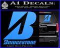 Bridgestone Tires Logo Decal Sticker Stacked Light Blue Vinyl 120x97