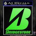 Bridgestone Tires Logo Decal Sticker Stacked Lime Green Vinyl 120x120