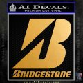 Bridgestone Tires Logo Decal Sticker Stacked Metallic Gold Vinyl 120x120