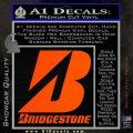 Bridgestone Tires Logo Decal Sticker Stacked Orange Vinyl Emblem 120x120