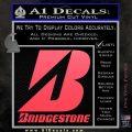 Bridgestone Tires Logo Decal Sticker Stacked Pink Vinyl Emblem 120x120