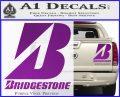 Bridgestone Tires Logo Decal Sticker Stacked Purple Vinyl 120x97