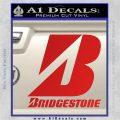 Bridgestone Tires Logo Decal Sticker Stacked Red Vinyl 120x120