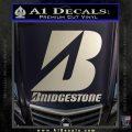 Bridgestone Tires Logo Decal Sticker Stacked Silver Vinyl 120x120