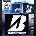 Bridgestone Tires Logo Decal Sticker Stacked White Emblem 120x120