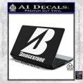 Bridgestone Tires Logo Decal Sticker Stacked White Vinyl Laptop 120x120