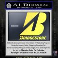 Bridgestone Tires Logo Decal Sticker Stacked Yelllow Vinyl 120x120